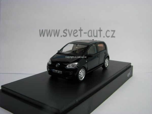 Volkswagen UP 4 Doors 2012 storm Blue Metallic 1:43 Schuco
